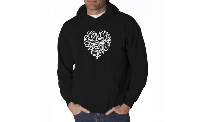 Men's Hooded Sweatshirt - LOVE
