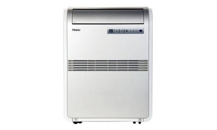 8,000 BTU Portable Air Conditioner 115V with Remote, Silver