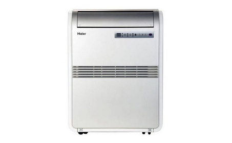 8,000 BTU Portable Air Conditioner 115V with Remote, Silver photo