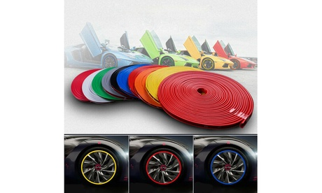 26FT Car Wheel Hub Rim Edge Protector Ring Tire Guard Sticker Rubber Strip