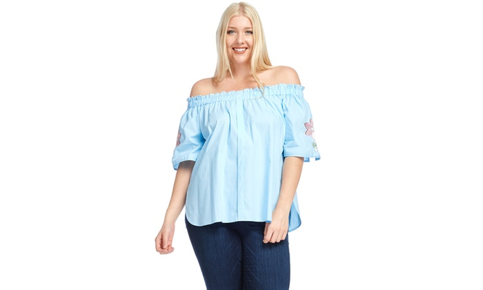 3998ec7147 Up To 55% Off on Xehar Women s Plus Size Off S...