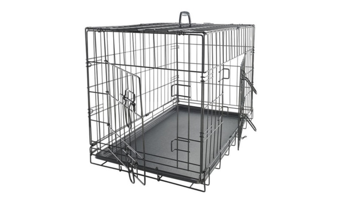 SweetDreams: Pet Kennel Cat Dog Folding Crate Wire Metal Cage W/Divider