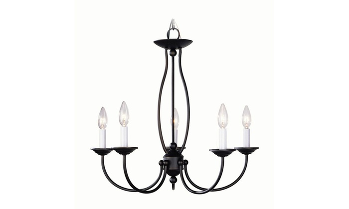 Home Basics 5-Light Bronze Chandelier