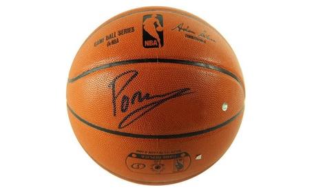 Autographed Kristaps Porzingis New York Knicks Basketball 86d0d02f-81f2-4c43-a7bb-3a6df7c5fcc9