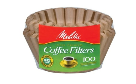 Melitta 629092 Natural Brown Basket Coffee Filters - 100 Package 5a5a6bce-a642-4b92-8477-37eee74b36fa