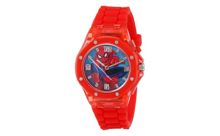 Marvel Ultimate Spider-Man Kids' SPD3403 Red Flashing Dial Watch b54a7d62-9707-4895-9534-17f079900d93
