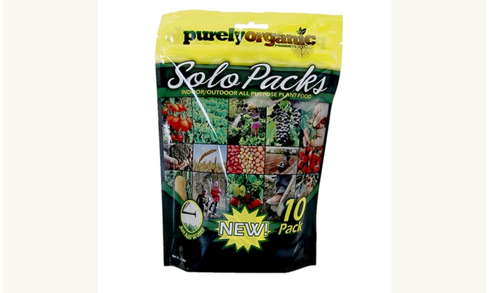 Purely Organic Solo Packs Indoor Outdoor All Purpose Plant Food 2 Pack