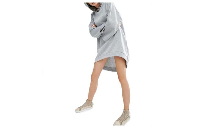 Women's High Low Hem Hoodie Dress