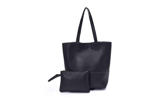 Tote Bag with Wristlet Clutch Artmis PU Leather Shoulder Bag Handbags