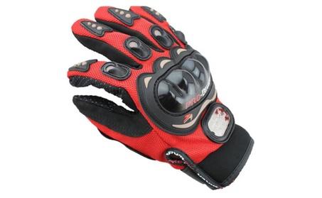 Mens Full Finger Motorcycle Gloves Tech Touch Gloves ba578376-652c-43b4-9986-3dc444c06c26