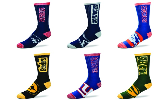 27fb2aec Up To 44% Off on Unisex Crew Socks with NFL Logo | Groupon Goods
