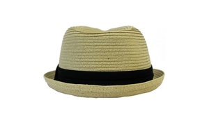 AccessHeadwear Sun Styles Rico Kid's Classic Trilby Style Fedora