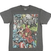 Marvel Group Photo In Heather Charcoal Men's T-Shirt
