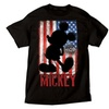 Disney Mickey Mouse American Flag Graphic Men's T-Shirt
