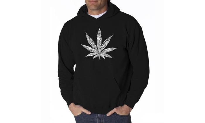 Men's Hooded Sweatshirt - 50 DIFFERENT STREET TERMS FOR MARIJUANA