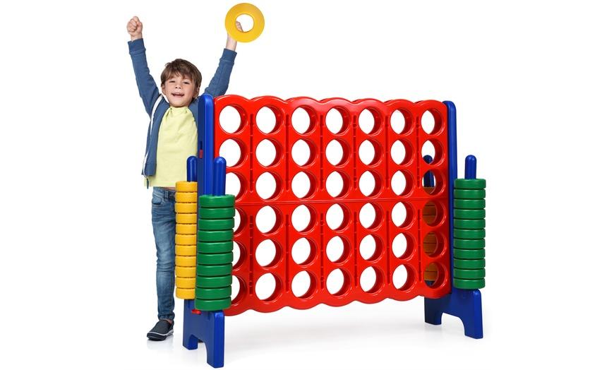 Jumbo 4-to-Score Game Set Giant 4 in A Row Kids Adults w// 42 Jumbo Rings