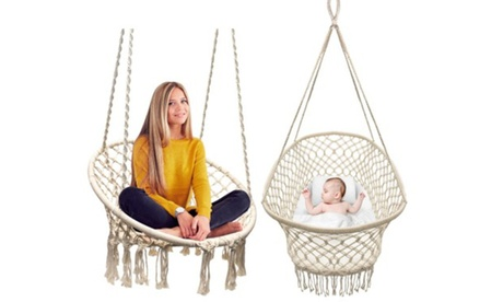 Sorbus Baby Crib Cradle, Hanging Bassinet and Rope Chair b426cb85-9d25-4b22-9dd2-dfb7a53267bd
