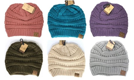 Cheveux Corp. Women's Solid Classic CC Beanie