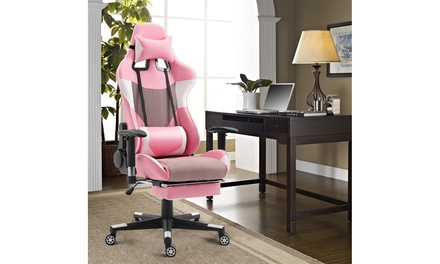 Gaming Chair High Back Racing Office Chair with Lumbar Support & Footrest