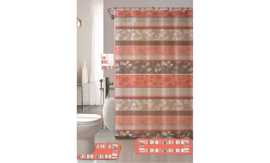 Up To 64 Off On 18 Piece Bathroom Set, Bathroom Sets With Shower Curtain And Rugs