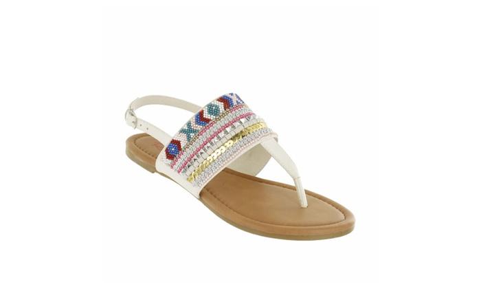 Red Circle Women's Aliana Beads Sandals