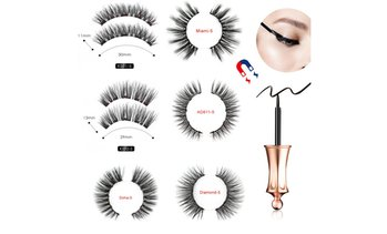 Magnetic Eyeliner Kit with Magnetic Eyelashes and Liquid Eyeliner, KS02-5