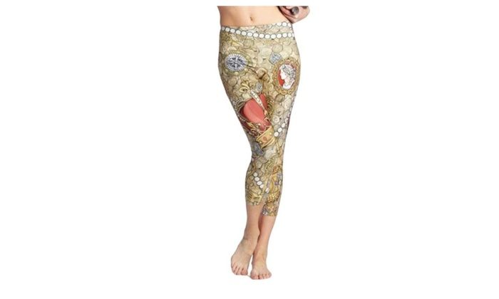 Women's Casual Mid Rise Slim Fit Graphic PullOnStyle Pants