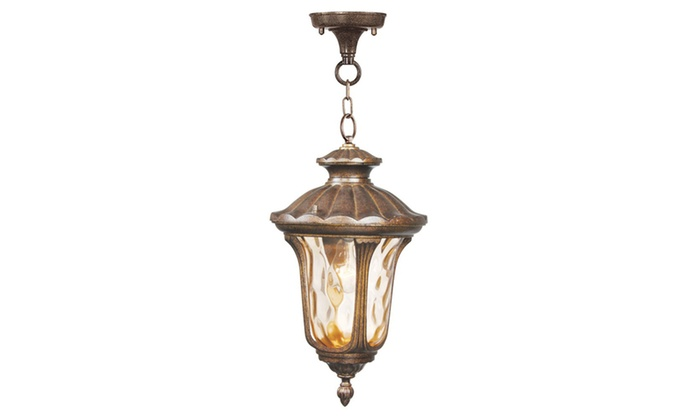 Oxford 1-Light Moroccan Gold Outdoor Pendant