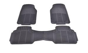 3PC Black Universal Car Van Front &Rear Floor Mats