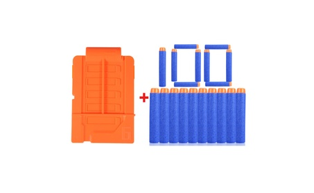 100pcs Darts Round Head Bullets Blasters+Clips For Nerf N-strike Gun 5ae8839c-35d6-42fb-aa01-aa58d98bda05