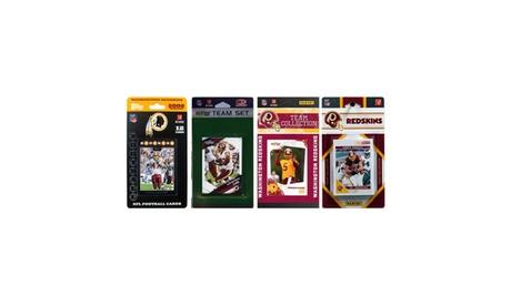 NFL Washington Redskins 4 Different Licensed Trading Card Team Sets 1139b874-9533-4be0-95fe-fbc8a02e20f3