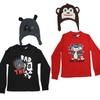 BELUGA* Boys Long Sleeve Graphic Tee & Critter Hat