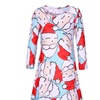 Womens Round Christmas Swing Dresses Santa Claus Swing Dress