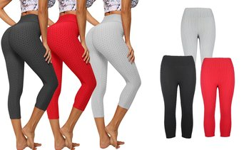 Women Slimming High Waist Ruched Workout Leggings Booty Yoga Pants Tights