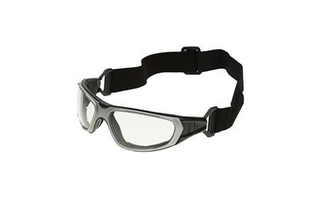 Clear Anti Fog Safety Glasses Hybrid Goggles Black Silver 7aabbf4d-d0f1-42fd-a204-81e576f368fd