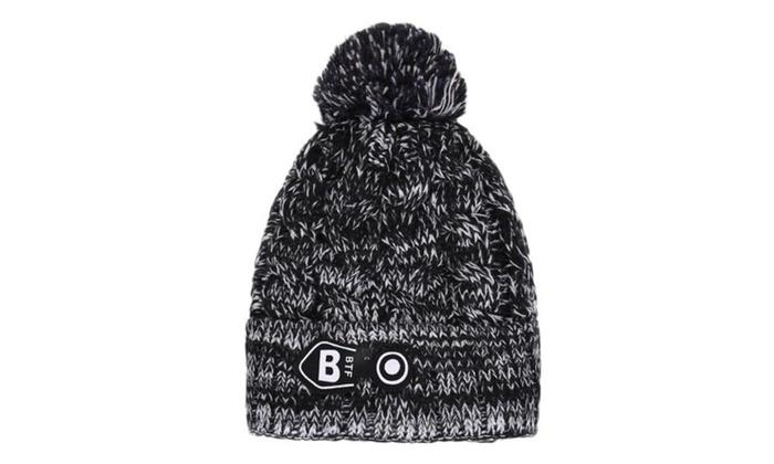 Women's Pinched Crown Elastic Closure Woollen Hat