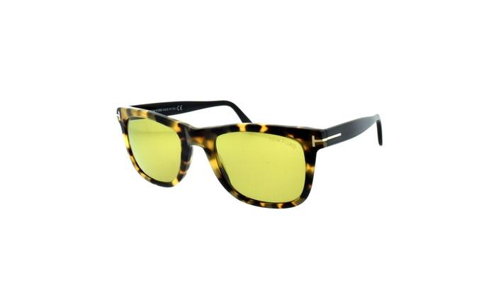 724e596181 Tom Ford FT0336 55N Leo Sunglasses 52mm Tortoise Brown Yellow TF 336 Bond