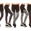 Three Toned Color Block Sporty Leggings (3-Pack)