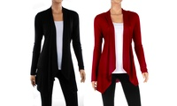 Groupon.com deals on 2-Pack Womens Draped Cardigan
