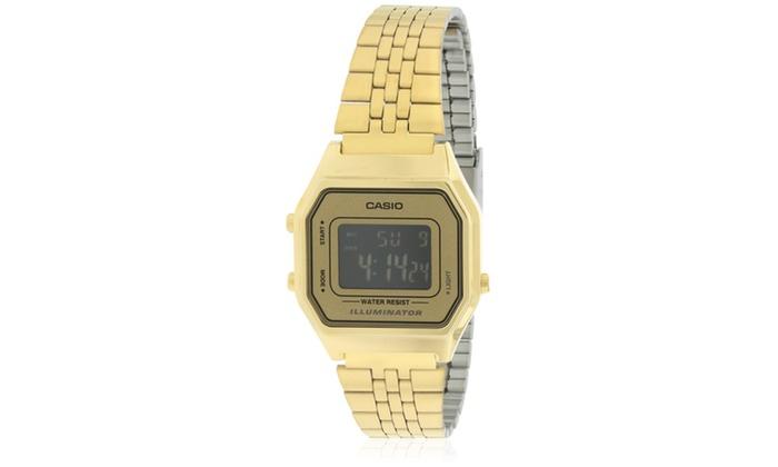 715fdc64d5d Casio Gold- Tone Digital Retro Ladies Watch LA680WGA-9B