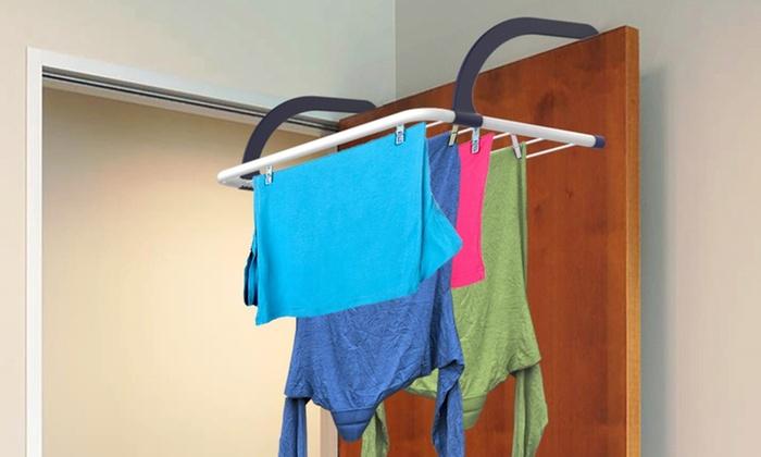 Indooroutdoor Over The Door Clothes Drying Rack Groupon