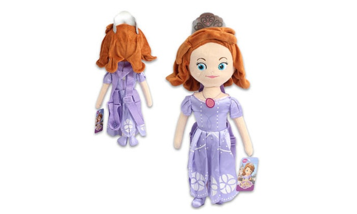 """Disney Sofia the First Plush Backpack - 17"""""""