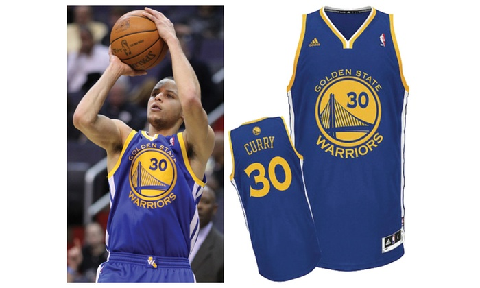 big sale eefb4 63f40 Stephen Curry Golden State Warriors Blue Jersey (Size Adult Medium)