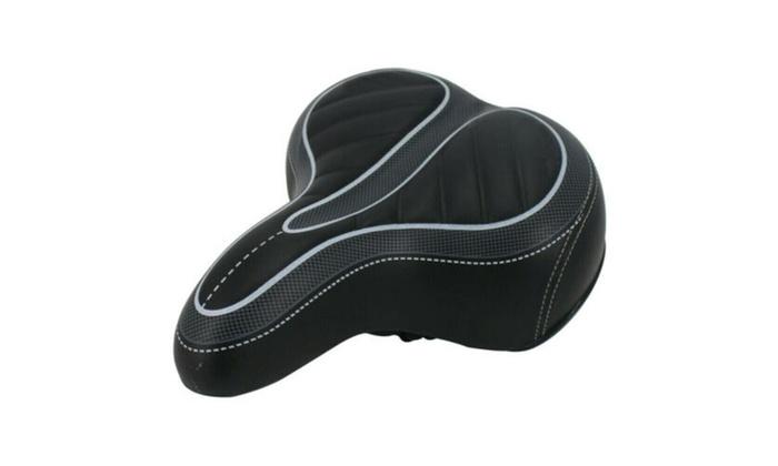 Wide Big Bum Bike Bicycle Gel Cruiser Extra Comfort Sporty Soft Pad Saddle Seat