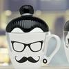 Manbun and Ladybun Hipster Mugs