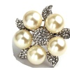 Exaggerated Imitation Pearl with Flower Rings for women
