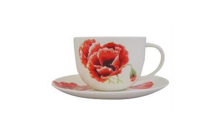 Roy Kirkham Breakfast Cup/saucer - Garden Poppy Set Of 2 de72e6b3-a32d-4b05-b0cd-b2df2a3e5869