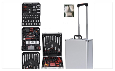 Sturdy Aluminium Tool Set Chest Carry Wheeled Case Box Trolley 599 PCS 291bb2c6-83d8-49da-9ffe-7f1ca4311d95