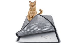 Washable Non-Toxic Cat Litter Mat for Dirt Scatter Control