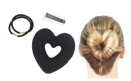 Superior Heart Shaped Hair Disk Hair Bun Accessories e44fa53e-8550-4df8-acf2-6d24ec919ce4